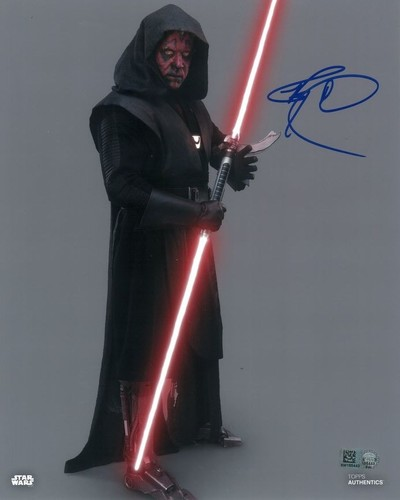 Ray Park As Maul 8X10 Autographed in Blue Ink Photo