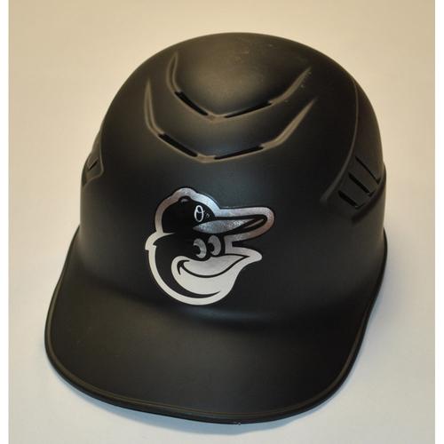 """Photo of Arnie """"AB"""" Beyeler Baltimore Orioles Game-Used 2019 Players' Weekend Helmet"""