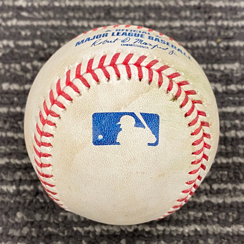 Photo of 2019 Game Used Baseball - San Francisco Giants vs. Tampa Bay Rays on 4/7 - T-8: Nick Vincent to Kevin Kiermaier - Triple to RF
