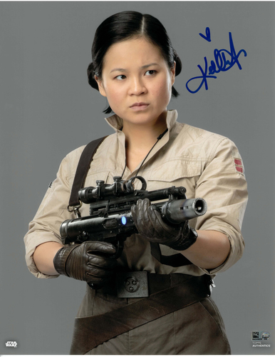 Kelly Marie Tran As Rose Tico 11x14 AUTOGRAPHED IN 'Blue' INK PHOTO
