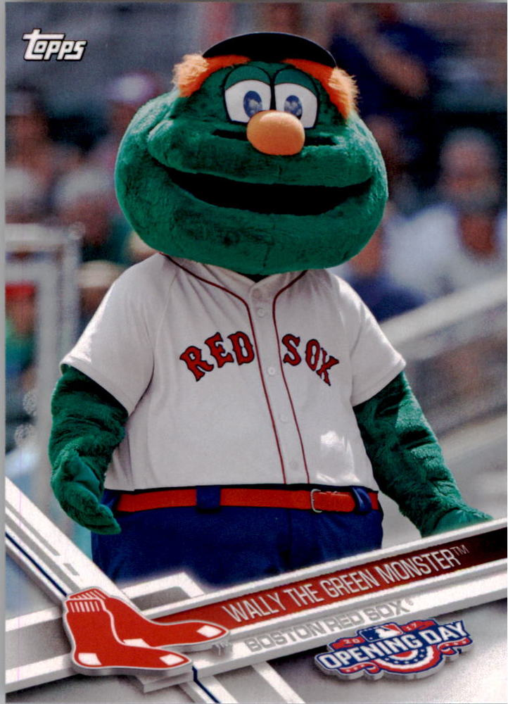2017 Topps Opening Day Mascots #M24 Wally the Green Monster