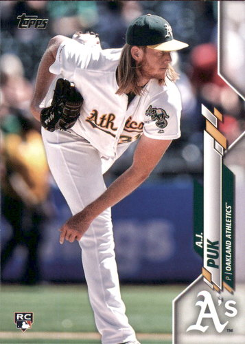 Photo of 2020 Topps #251 A.J. Puk RC