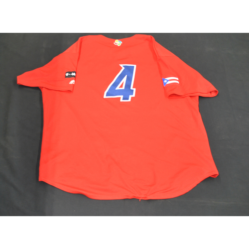 Photo of 2017 World Baseball Classic Batting Practice Jersey - Yadier Molina - Puerto Rico (Size XL)