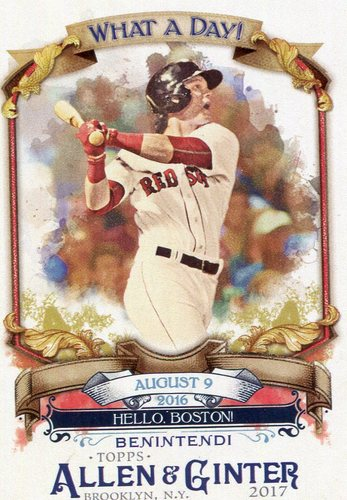 Photo of 2017 Topps Allen and Ginter What a Day #WAD59 Andrew Benintendi