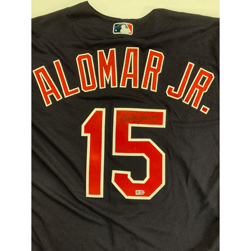 Photo of Sandy Alomar Jr. Autographed 2020 Alternate Road Jersey