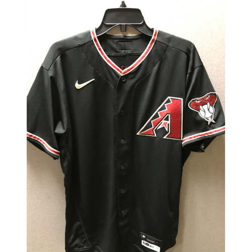 Photo of D-backs Bench Coach Luis Urueta 2020 Game-Used Black Alternate Jersey: 9/26/20 vs. Rockies