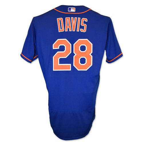 J.D. Davis #28 - Team Issued Blue Alt. Home Jersey with Seaver Patch - 2020 Season