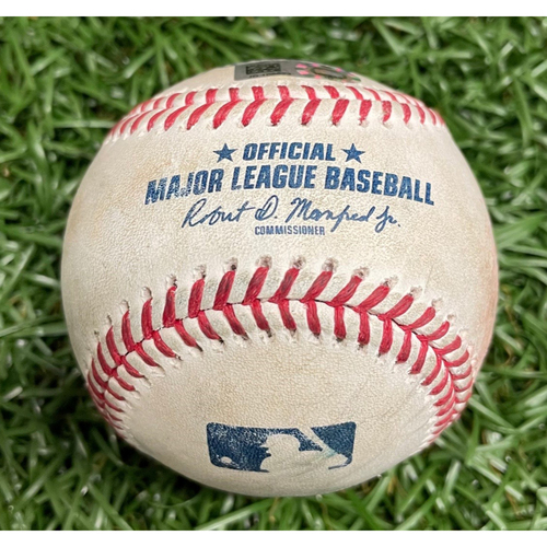 Photo of Opening Day Game Used Baseball: Austin Meadows Double off Luis Cessa - April 9, 2021 v NYY