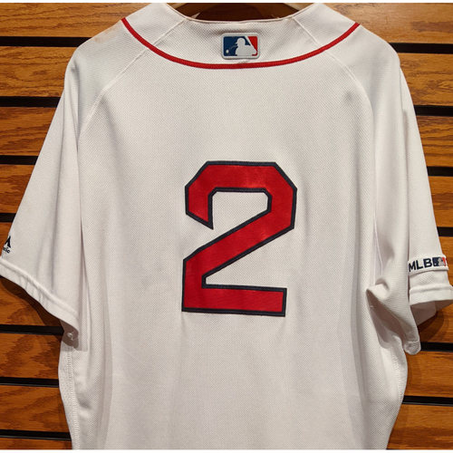 Photo of Xander Bogaerts #2 Game Used Home White Jersey