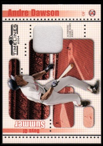 Photo of 2004 Donruss Timelines Boys of Summer Material #3 Andre Dawson Jsy