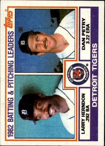 Photo of 1983 Topps #261 Tigers TL/BA: Larry Herndon/ERA: Dan Petry/(Che