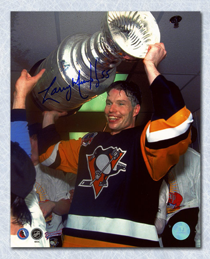 Larry Murphy Pittsburgh Penguins Autographed Stanley Cup 8x10 Photo
