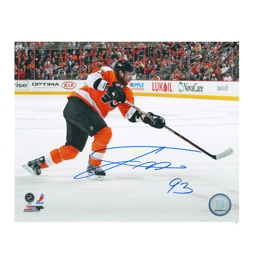 JAKUB VORACEK Signed Philadelphia Flyers 8 X 10 Photo - 70014