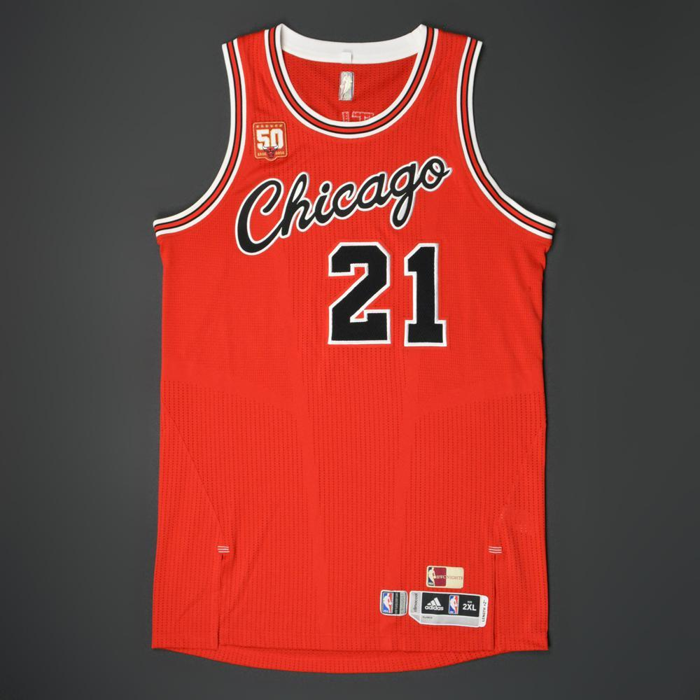 low cost 2fa4d eb931 Jimmy Butler - Chicago Bulls - Game-Worn '1984-85 Hardwood ...