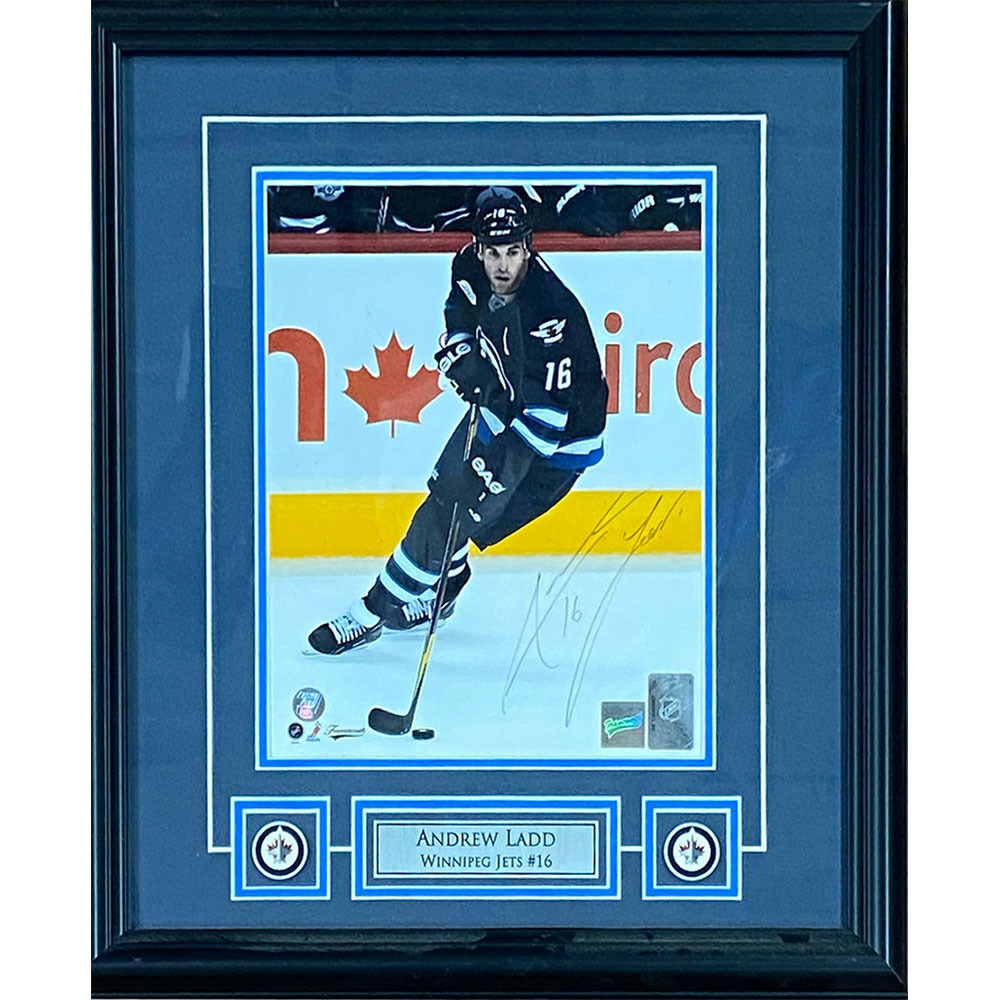 Andrew Ladd Autographed Winnipeg Jets Framed 8X10 Photo