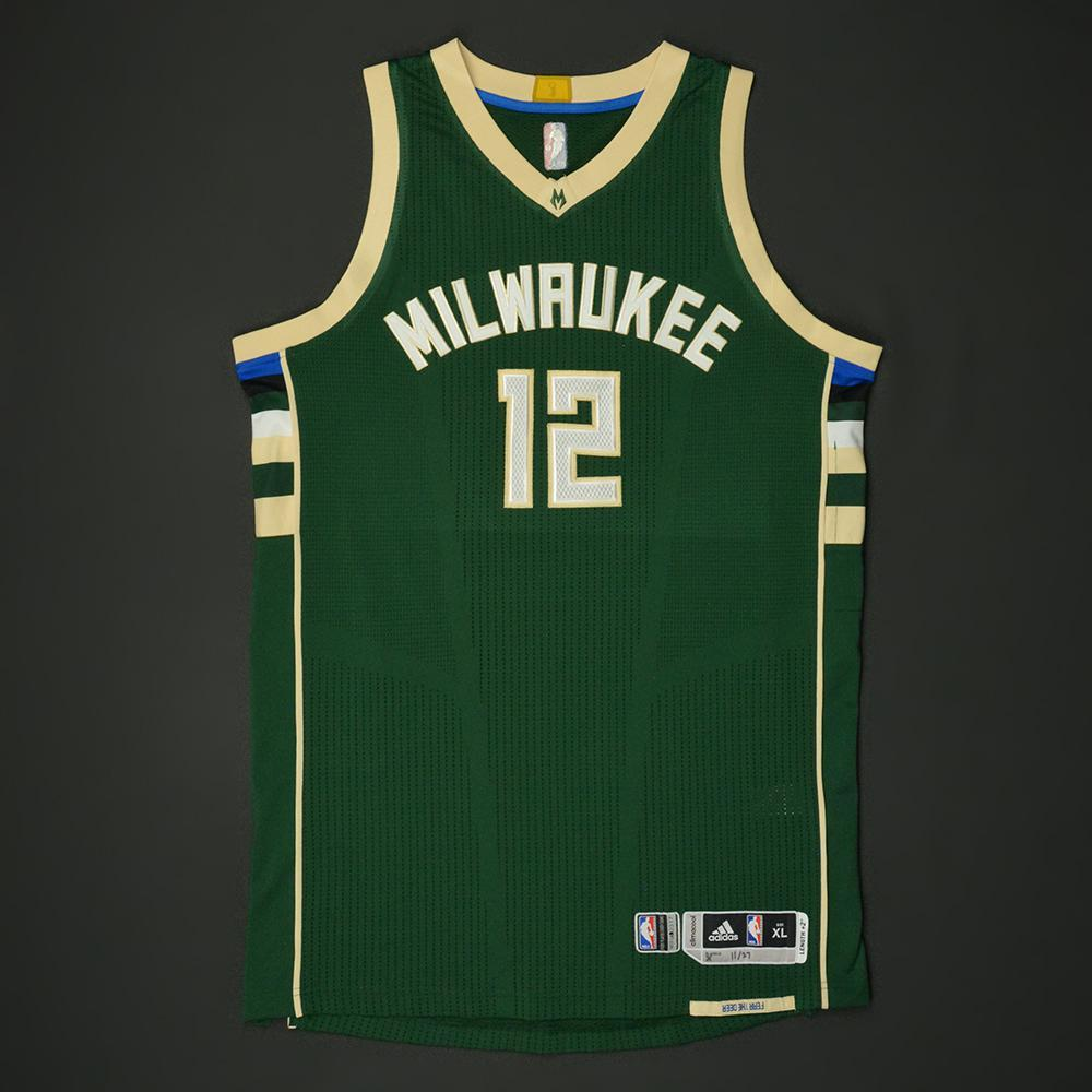 buy online a6ec7 8e0ba Jabari Parker - Milwaukee Bucks - Game-Worn 1st Half Only ...