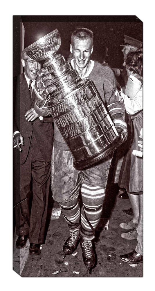 Eddie Shack - Unsigned 14x28 Canvas Leafs