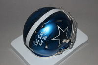 HOF - COWBOYS BOB LILLY SIGNED COWBOYS BLAZE MINI HELMET