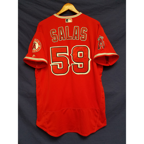 Photo of Fernando Salas Alternate Red Game-Used Jersey