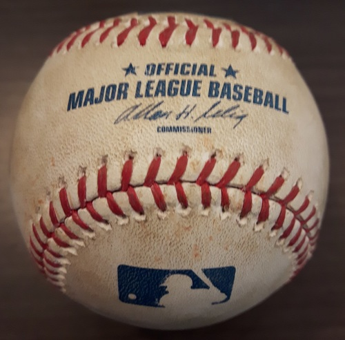 Photo of Authenticated Game Used Baseball - April 5, 2014: Single by Jacoby Ellsbury against Brett Cecil (Top 8)