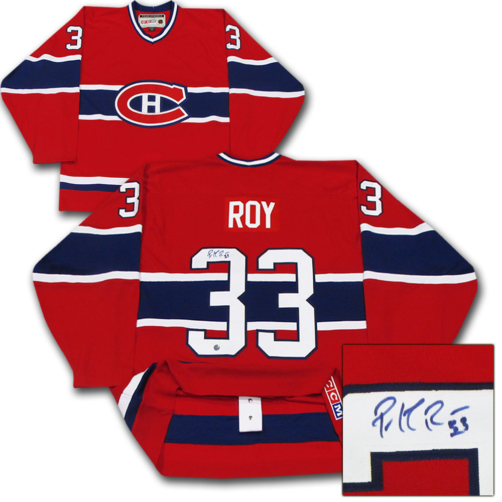 ... ireland patrick roy autographed montreal canadiens pro jersey f5c89  34075 6600ab252