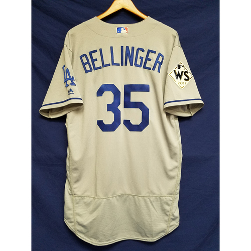 Photo of Cody Bellinger 2017 Road World Series Team-Issued Jersey