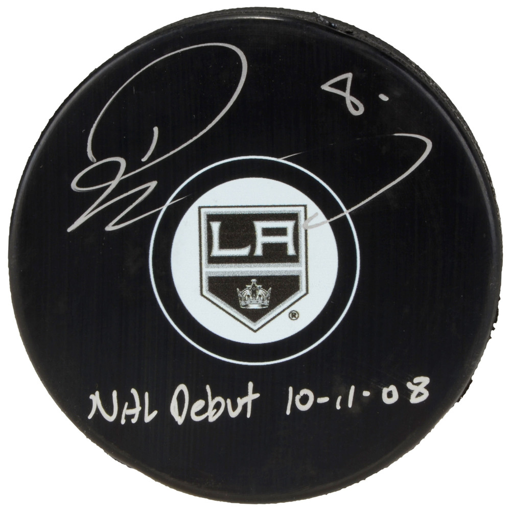 Drew Doughty Los Angeles Kings Autographed Hockey Puck with NHL Debut 10/11/08 Inscription