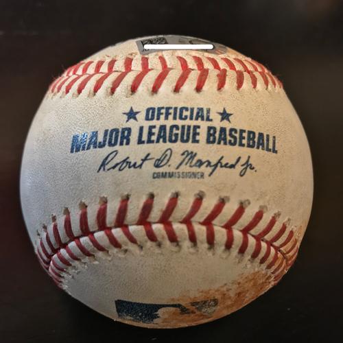 Photo of 4/30/18 Charlie Morton to Giancarlo Stanton Foul Ball (7th inning)
