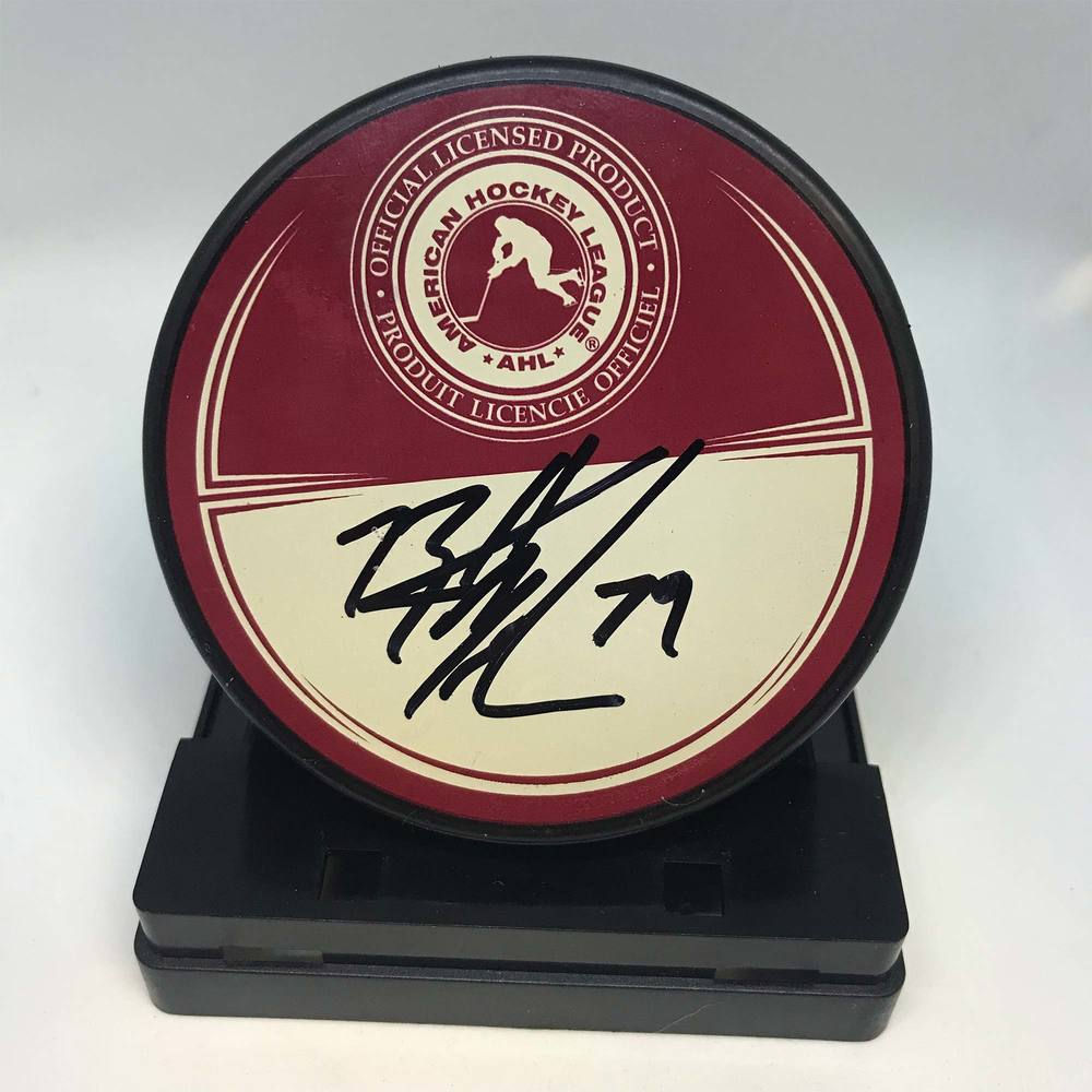 2011 AHL All-Star Classic Souvenir Puck Signed by #79 Brett MacLean
