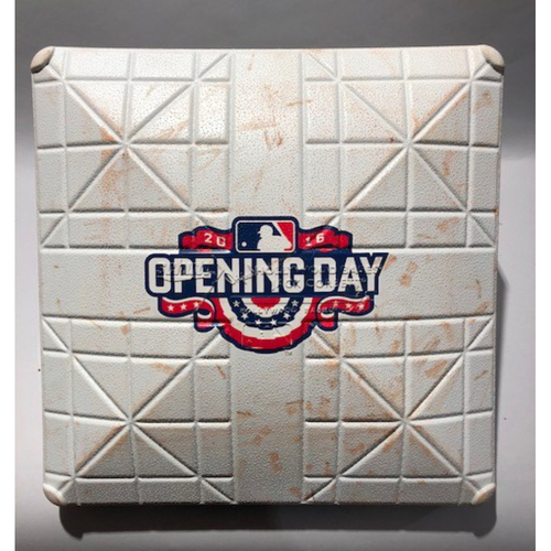 2016 Boston Red Sox Opening Day -3rd Base Used In 9th Inning - 4/11/16