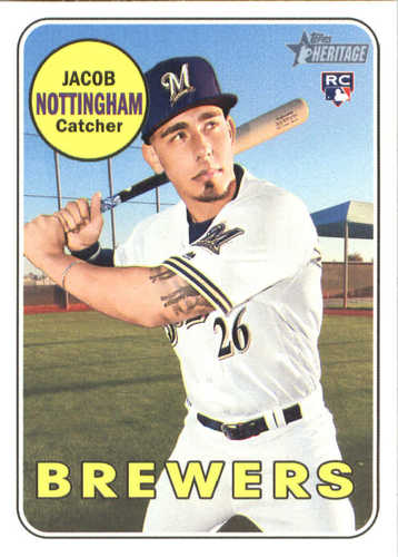 2018 Topps Heritage High Number JACOB BARNES Rookie Lot Of 2 RC #507 ~ Brewers !