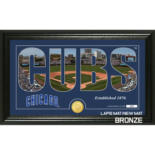 "Photo of Chicago Cubs ""Silhouette"" Panoramic Bronze Coin Photo Mint"