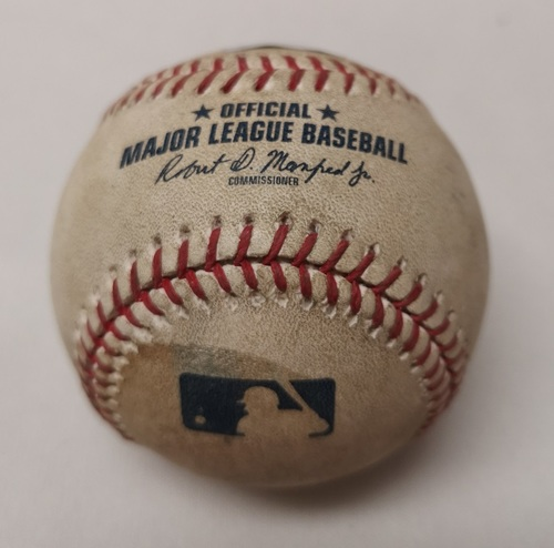 Photo of Authenticated Game Used Baseball - Ryon Healy RBI Single against Francisco Liriano (July 24, 2017 vs OAK). Top 1.