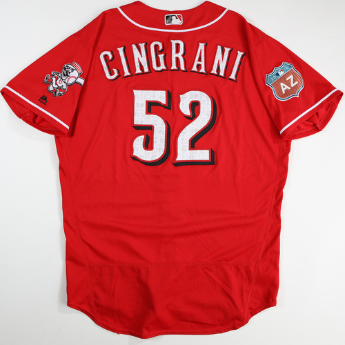 Photo of 2016  Spring Training -  Spring Training Used Jersey - Tony Cingrani (Reds) - Size 48