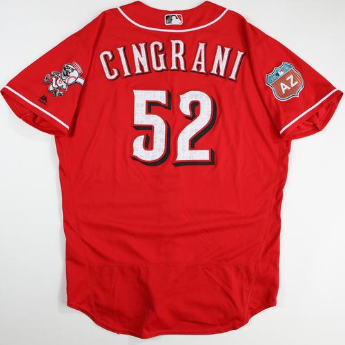 2016  Spring Training -  Spring Training Used Jersey - Tony Cingrani (Reds) - Size 48