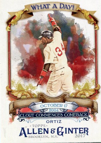 Photo of 2017 Topps Allen and Ginter What a Day #WAD62 David Ortiz