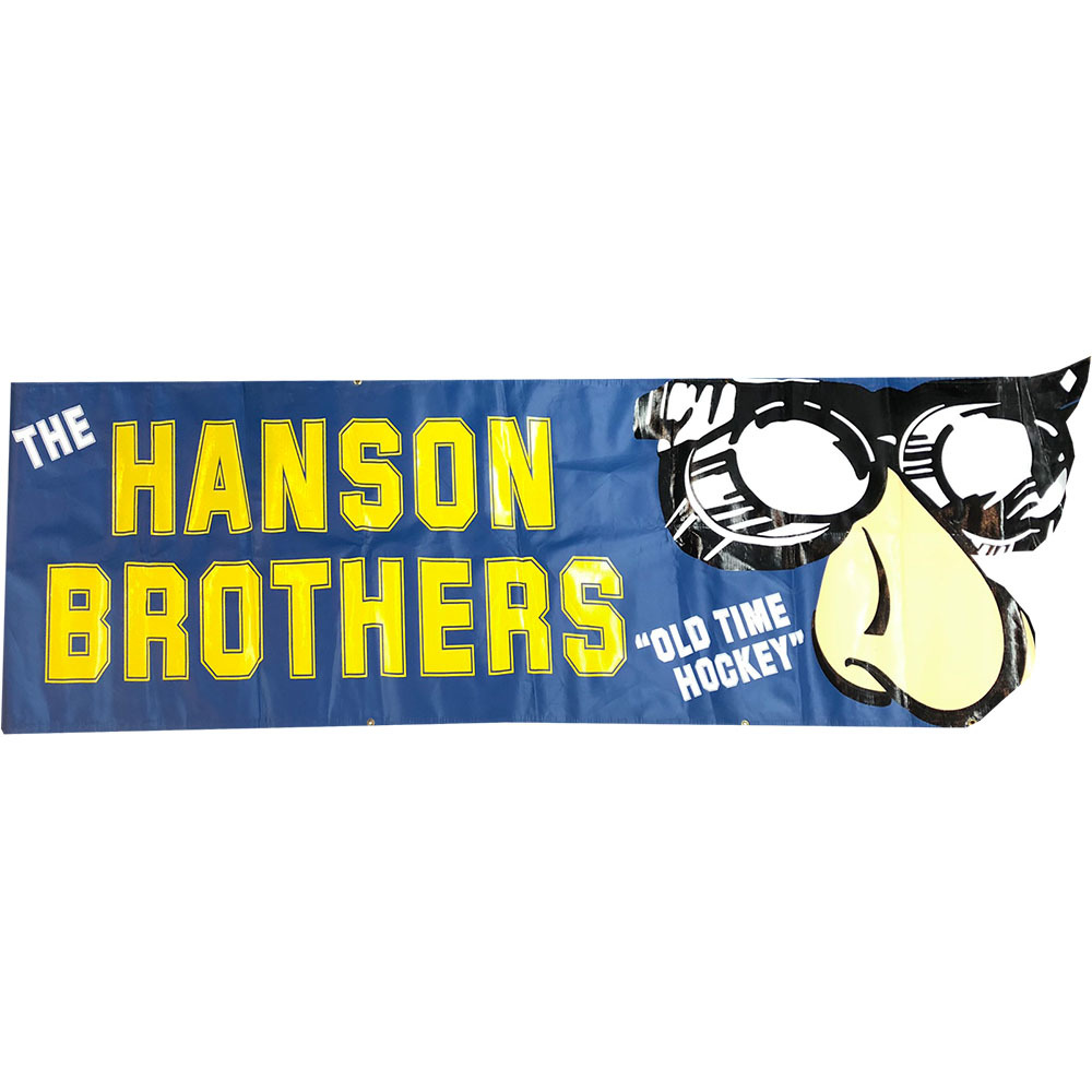 Hanson Brothers Promotional Appearance Used Banner