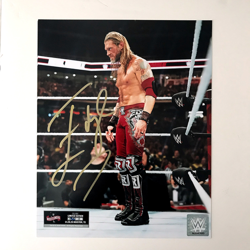 Photo of Edge SIGNED WrestleMania 36 Exclusive Photo (Random Number)