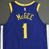 JaVale McGee - Golden State Warriors - NBA China Games - Game-Worn Icon Edition Jersey - 2017-18 NBA Season