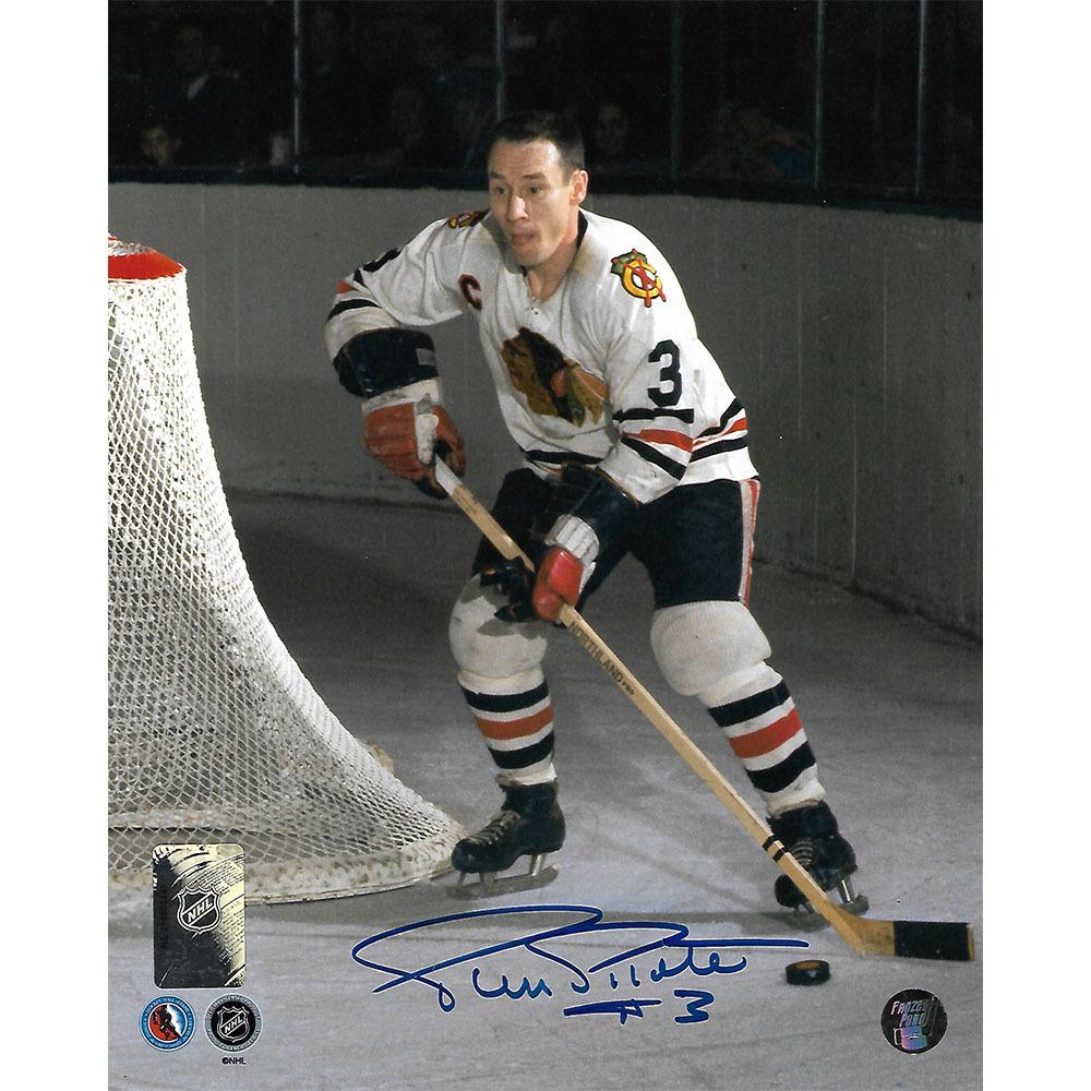 Pierre Pilote Autographed Chicago Blackhawks 8X10 Photo