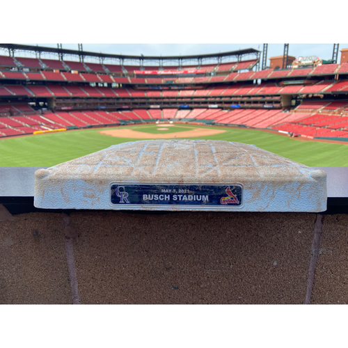 Photo of Cardinals Authentics: Game Used Base from May 7, 2021 Cardinals vs. Rockies *Flaherty 1st Home Run of His Career*