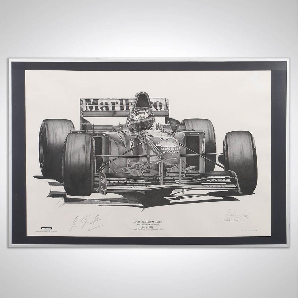 Michael Schumacher 1997 Signed Art Print by Alan Stammers