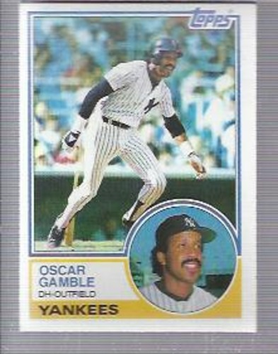 Photo of 1983 Topps #19 Oscar Gamble
