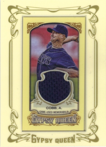 Photo of 2014 Topps Gypsy Queen Framed Mini Relics #GMRAC Alex Cobb