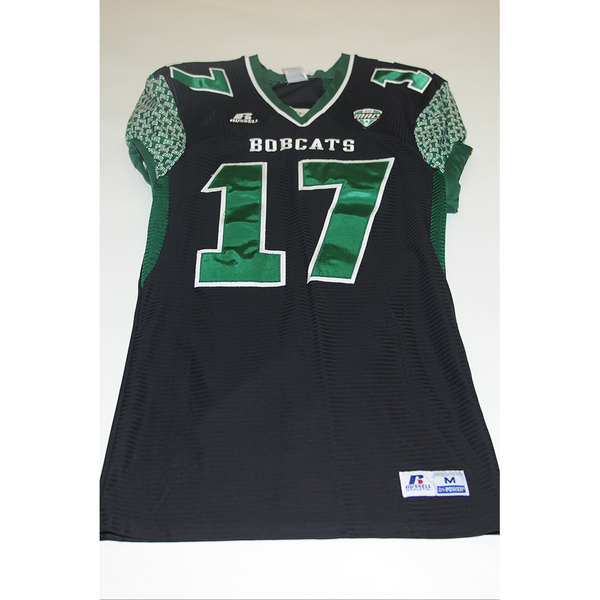 Photo of # 17 - Official OHIO BOBCATS Game Worn Football Jersey (2011) - SIZE MEDIUM