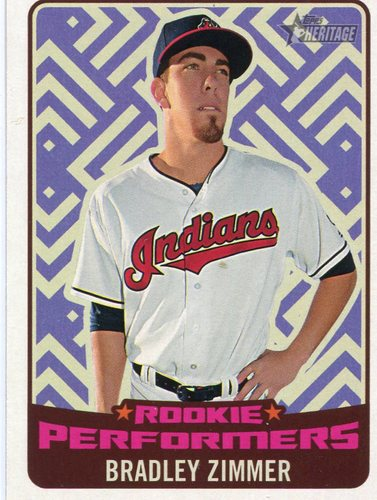 Photo of 2017 Topps Heritage Rookie Performers #RPBZ Bradley Zimmer