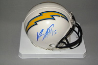 CHARGERS - KEENAN ALLEN SIGNED CHARGERS MINI HELMET