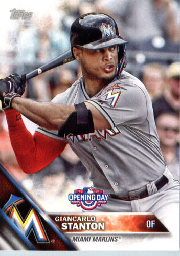 Photo of 2016 Topps Opening Day #OD184 Giancarlo Stanton