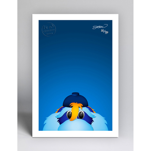 Photo of Raymond - Limited Edition Minimalist Mascot Art Print by S. Preston  - Tampa Bay Rays