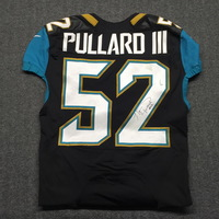 d76bf2fc6 Jaguars - Hayes Pullard signed and game worn Jaguars jersey - Size 42